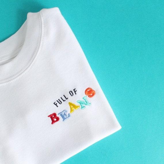 a28d4f228 Full of Beans kids t-shirt in white 70 s inspired