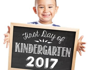 70% 0FF THRU 5/25 ONLY first day of school sign, first day of school, first day 2019, kindergarten, kindergarten sign, photo props for kids,