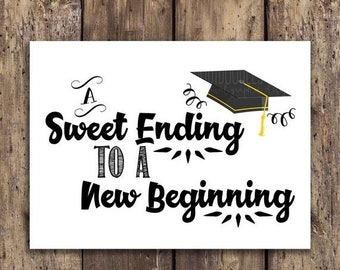image relating to Free Printable Candy Buffet Signs called Commencement sweets Etsy
