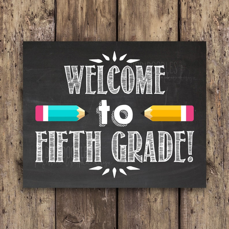 welcome to fifth grade classroom signs classroom welcome image 0