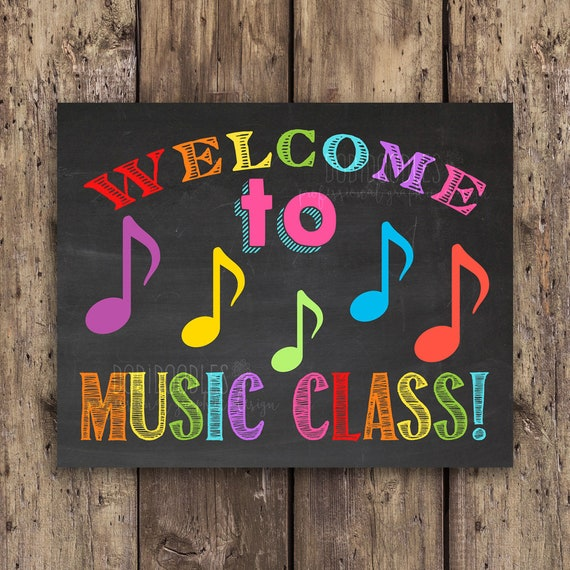 Welcome to music class classroom signs classroom welcome   Etsy
