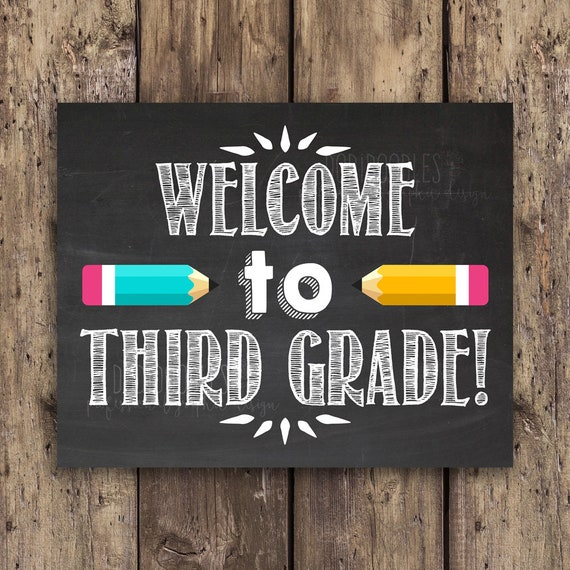Welcome to third grade classroom signs classroom welcome | Etsy