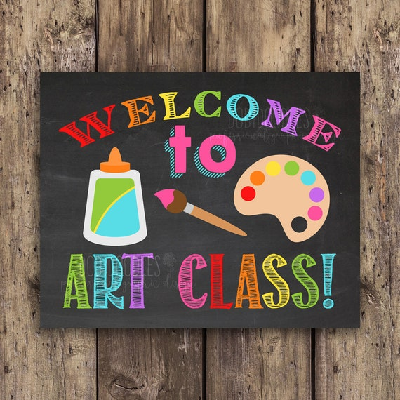 Welcome to art class classroom signs classroom welcome | Etsy