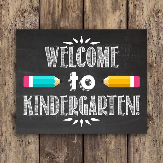 Welcome to kindergarten classroom signs classroom welcome   Etsy