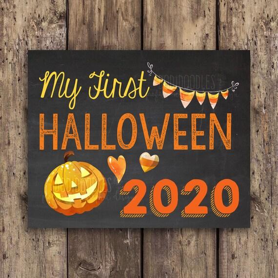 Halloween 2020 First Poster My first halloween first halloween halloween 2020 | Etsy
