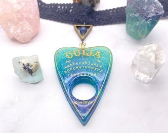 Pastel Goth BOHO Jewelry Blue Ouija necklace Ouija board jewelry Blue Ombre Ouija Choker Necklace Ouija pendant Wiccan necklace