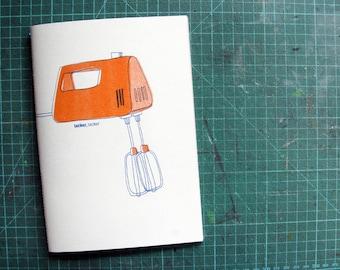 Recipe Book, Notebook, Cookbook, Notebook, Risograph