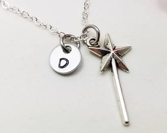 Wand Jewelry  - Magic Wand Pendant - Tiny Wand Necklace - Fairy Necklace - Magic Wand Necklace - Fairy Godmother Necklace - Wand Pendant