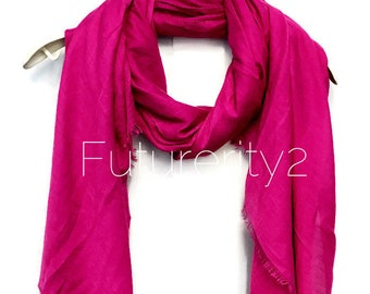 Plain Bright Purple Scarf / Spring Summer Scarf / Autumn Scarf / Gifts For Her / Gifts For Mother / Scarves And Wraps / Handmade Accessories