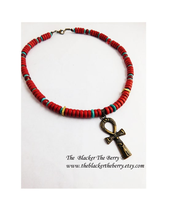 African Ankh Unisex Necklace