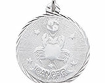 Sterling Silver Cancer Charm by Rembrandt