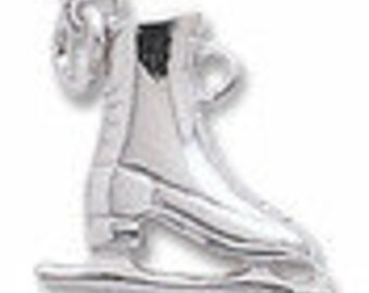 Sterling Silver Ice Skate Charm by Rembrandt
