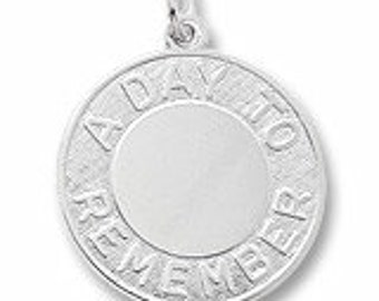 Sterling Silver A Day to Remember Charm by Rembrandt