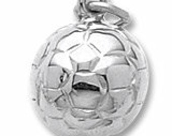 Sterling Silver Soccer Charm by Rembrandt