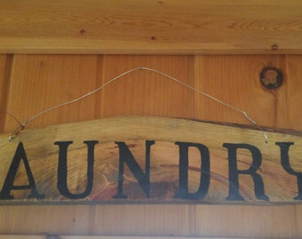 Rustic Wood Laundry Sign
