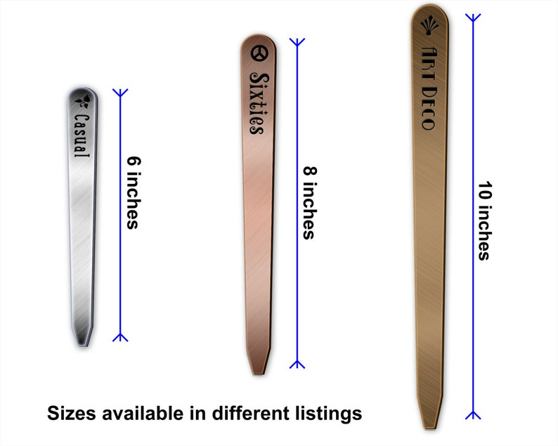 Tapered Metalgraph 06in Herb /& Garden Stakes Plant Markers