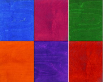 Hobby Size Colorful Dyed 1/8th Plywood 11.5x17.5inches for Dremel/Glow Forge/Epilog Mini
