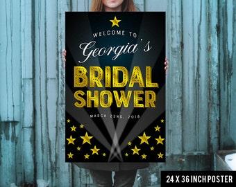 Bridal Shower Welcome Sign - Bridal Shower Sign - Printed Bridal Shower Sign - Hollywood Bridal Shower Sign