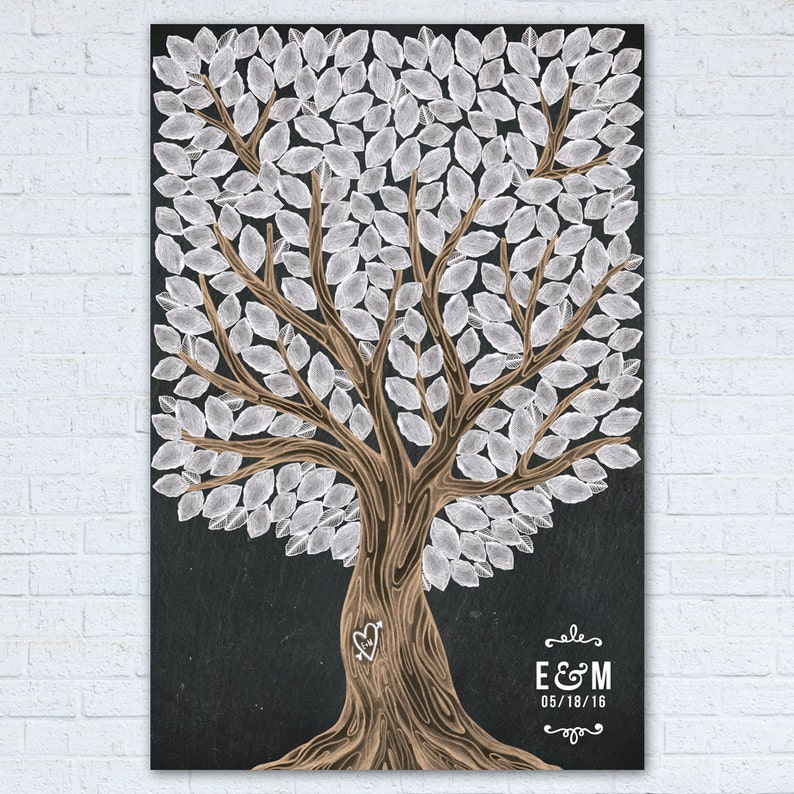 Wedding Guest Book Tree  Wedding Guest Book Tree Poster  image 0