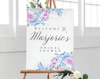 Bridal Shower Welcome Sign - Bridal Shower Sign - Printed Bridal Shower Sign - Succulents