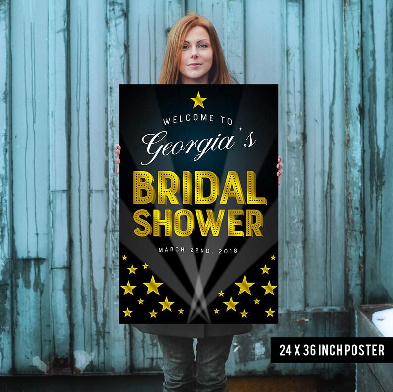 Bridal Shower Welcome Sign  Bridal Shower Sign  Printed image 0