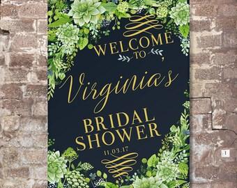 Bridal Shower Welcome Sign - Bridal Shower Sign - Printed Bridal Shower Sign - Succulents Bridal Shower