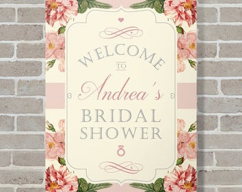 Bridal Shower Welcome Sign - Bridal Shower Sign - Printed Bridal Shower Sign