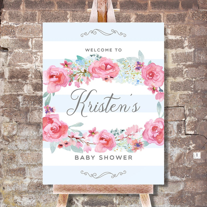 Baby Shower Welcome Sign  Baby Shower Welcome Poster  Baby image 0