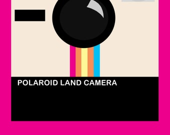 Pink Polaroid Camera Print