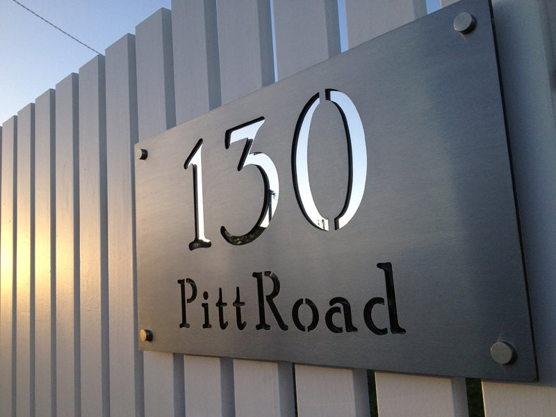 Laser Cut Metal Signs >> Stainless Steel Custom Made Laser Cut House Signs Numbers And Plaques
