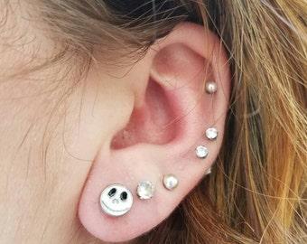 Jack skellington themed earrings