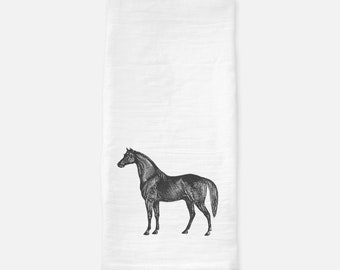 Farmhouse Decor  Horse Kitchen Towel   Flour Sack Towel   Tea Towel   Dish  Towel