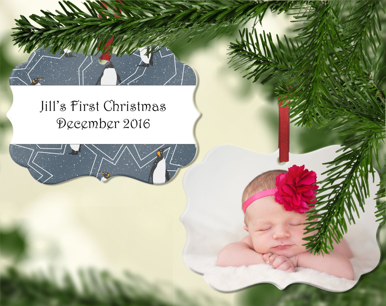 Personalized Photo Christmas Ornament Wedding Ornament | Etsy