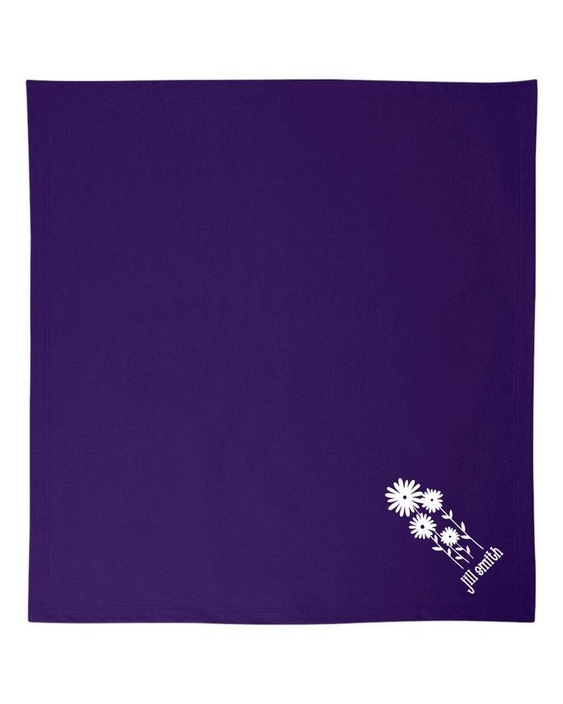 Custom Blanket Gift Personalized Flowers Blanket Blanket for Mom Personalized Flower Girl Blanket Personalized Blanket