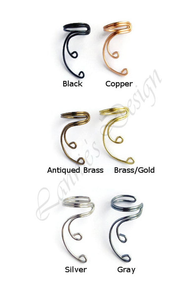 Ear Cuff Antiqued Brass Curve No Piercing Simple Cartilage Conch Fake Earrings Non-Pierced Ears Gift Niece Daughter Sister Wife Bridesmaids
