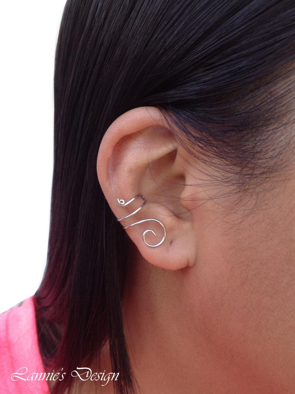 Silver Ear Cuff Swirl Sterling Silver Earcuff earring no pierce simple earring minimalist jewelry gift sterling silver dainty earrings