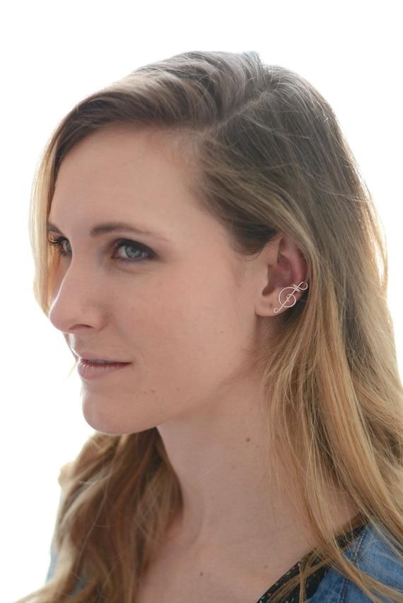 Ear Cuff Silver Treble Clef No Piercing Wire Earcuff Cartilage Earrings Best Seller at Lannie/'s Design Gift Daughter Music Teacher Friend