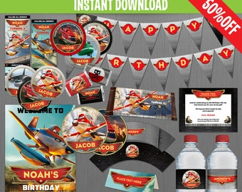 Disney Planes Fire and Rescue Birthday Party Collection - Instant Download and Edit with Adobe Reader