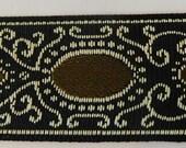 OVAL FRAME Jacquard Ribbon Trim Renaissance Fair Costume Trim Brown Black tan 1 quot