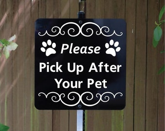 Please Pick Up After Your Pet Yard Sign with attached yard stake