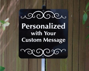 Personalized Yard Sign with Metal Stake, Custom Yard Sign, Handmade Metal Sign, Home Sign, Custom Sign, Home Signs, Free Shipping
