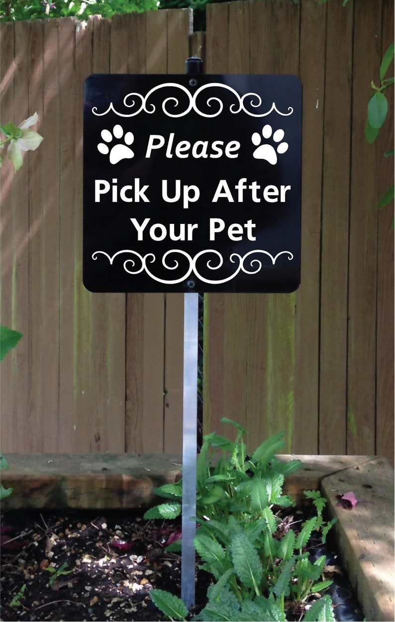 Please Pick Up After Your Pet Yard Sign with attached yard image 0