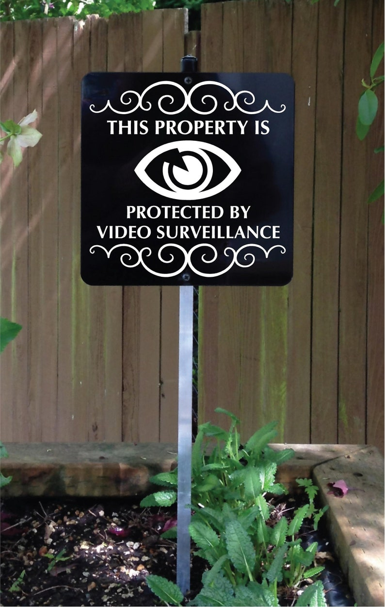This Property Is Protected By Video Surveillance Metal Sign image 0