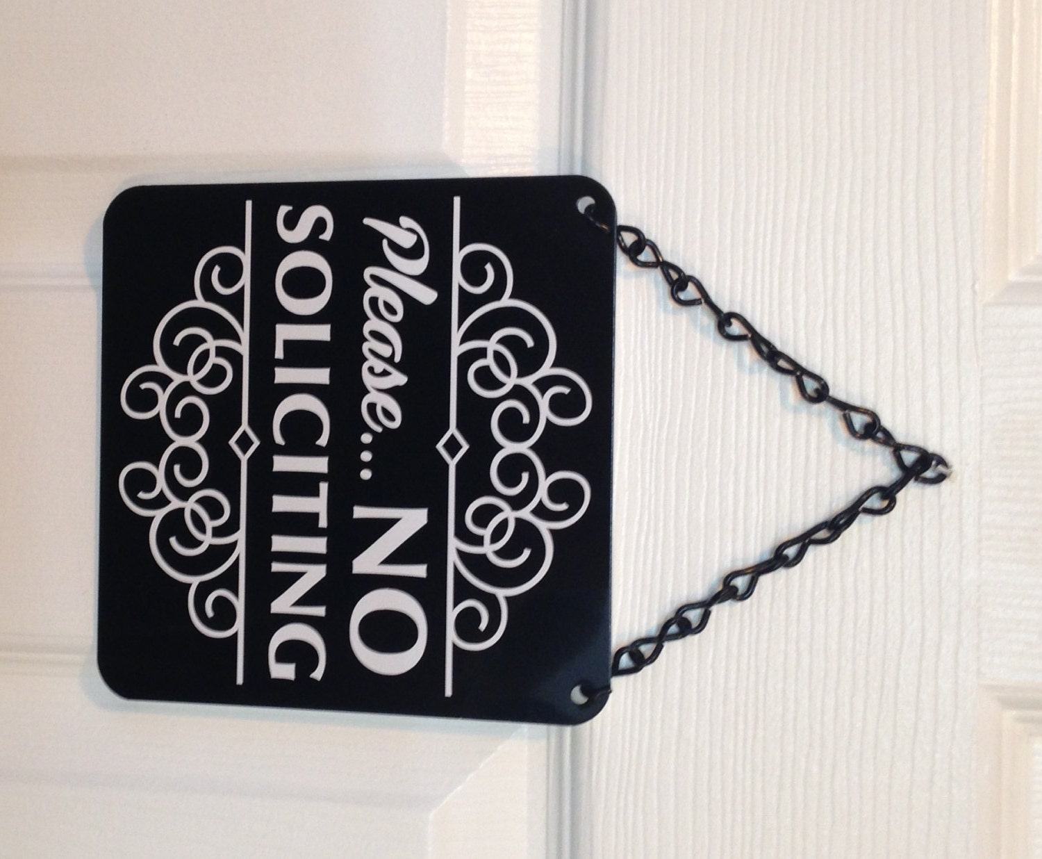Metal No Soliciting Sign Upscale Gray Metal No Soliciting Sign Classy