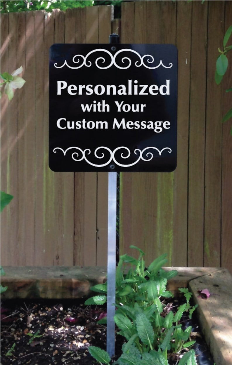 Personalized Yard Sign with Metal Stake Custom Yard Sign image 0
