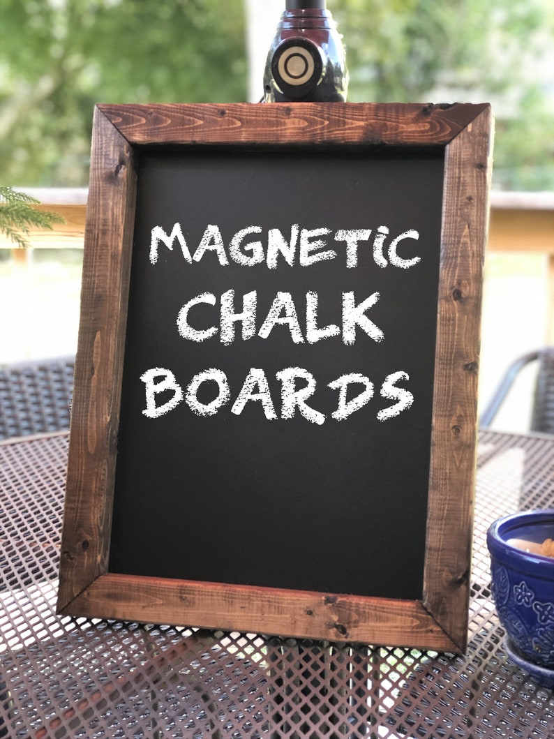 Rustic Framed Magnetic Chalk Boards in Multiples Sizes and image 0