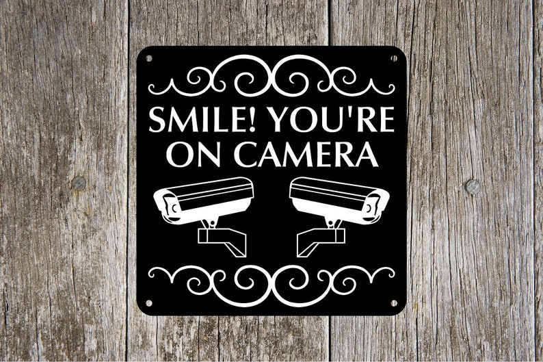 Smile You're On Camera  8 inch x 8 inch or 12 inch x 12 image 0
