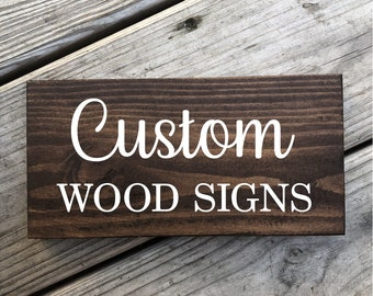 """5.5"""" x 12"""" custom painted personalized wood sign."""