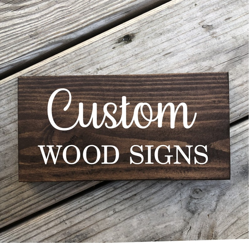 Custom sign custom painted sign custom painted wood sign image 0