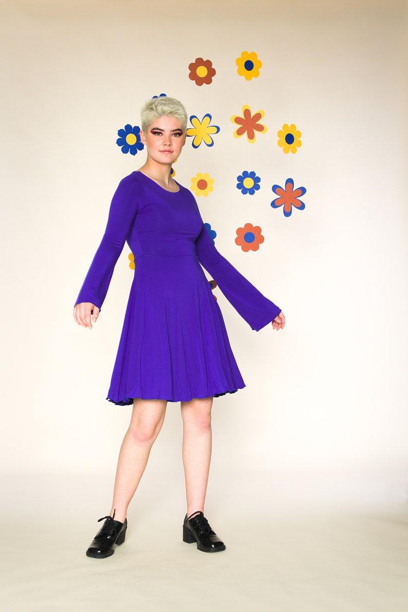 Bell sleeves jersey dress Daisy dress